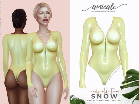 Snow Bodysuit CC ➔ PINEAPPLE *materials | bom | rlv*