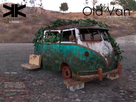 Atrezzo :: Old Van :: Green :: {kokoia}