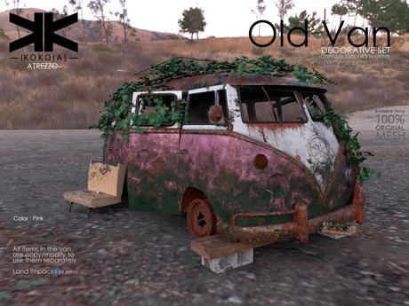 Atrezzo :: Old Van :: Pink :: {kokoia}