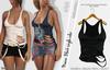 MAEVE FEMALE BLACK RIPPED TOP- MESH - MAITREYA - BELLEZA FREYA - LEGACY - FashionNatic