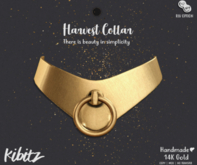 Kibitz - Harvest metal collar - onyx