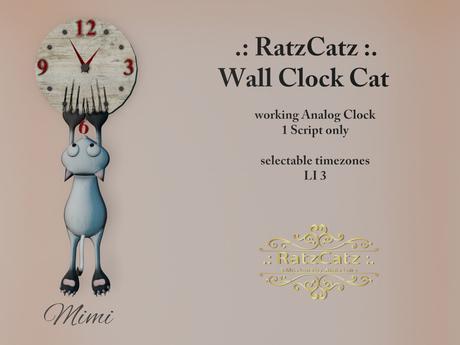 .: RatzCatz :. Wall Clock Cat *Mimi* 1.1