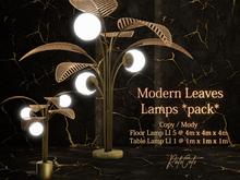 .: RatzCatz :. Modern Leaves Lamps Pack