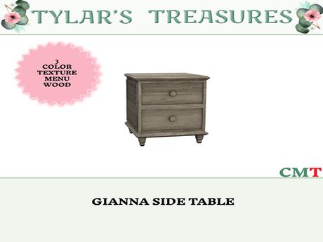 .:TT:.  GIANNA SIDE TABLE  ADD ME