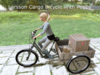 Larsson 3-Wheel Delivery Bike With Cargo and Puppy!