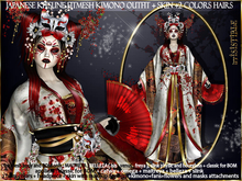 irrISIStible : JAPANESE KITSUNE OUTFIT + SKIN + 2 HAIRS COLORS
