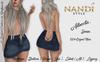 [Nandi Style] - FP Bag Skirt Alberta Denim