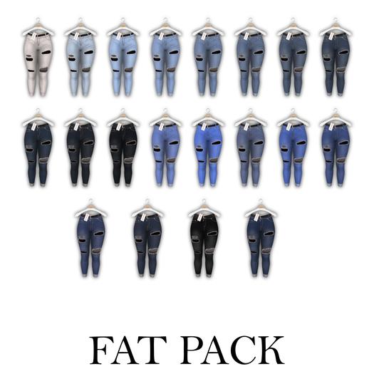 Tachinni - Serena Jeans - FAT PACK - Maitreya / Belleza / Slink / Legacy