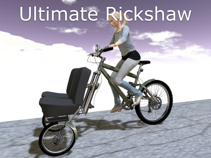Ultimate Two Passenger + Driver Urban Touring Rickshaw!