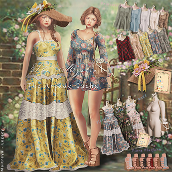 *The Mystic*Floral Lace Long Dress  Maitreya - RARE