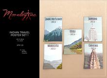 Moonley Inc. - Indian Travel Poster Set 1