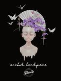 *Tentacio* Orchid headpiece