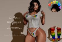 *CY* Ezra White Rainbow Love // (Add)