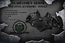 DSB LEVEL Gladiator Chest Armor Female Black v1.0
