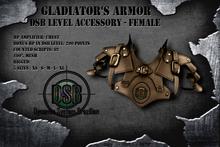 DSB LEVEL Gladiator Chest Armor Female Brown v 1.0