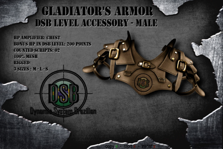 DSB LEVEL Gladiator Chest Armor Male Brown v 1.1 Box