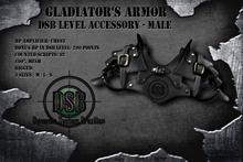 DSB LEVEL Gladiator Chest Armor Male Black v1.0