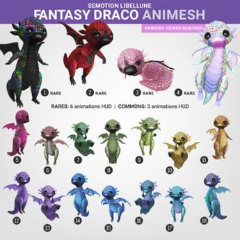 SEmotion Libellune Fantasy Draco Animesh #8