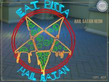 #187# Hail Satan Neon