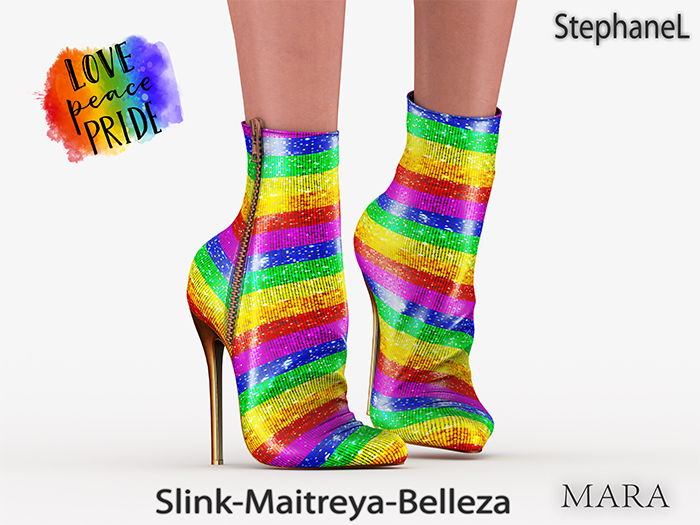 [StephaneL] GIFT MARA LOVE PRIDE SHOES - SLINK-MAITREYA-BELLEZA