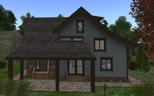 D-VINE DESIGNS BELLISSERIA LOG HOME MOUNTAINEER ADD ON-a covered porch/decks & sidewalk 27li