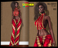 [AFROTAY] Keli Outfit Red [ADD]