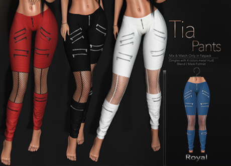 [[ Masoom ]] Tia Pants-Royal-Meshbody Classic, Legacy Perky, Legacy Original, Lara, Freya & Hourglass