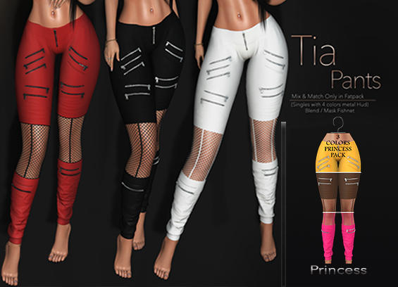[[ Masoom ]] Tia Pants-PRINCESS PACK-Meshbody Classic, Legacy Perky, Legacy Original, Lara, Freya & Hourglass