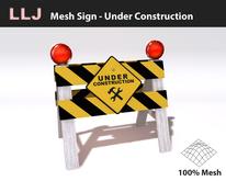 LLJ Mesh Sign - Under Construction