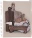 dust bunny . kitchen clutter . cutting boards . boxed