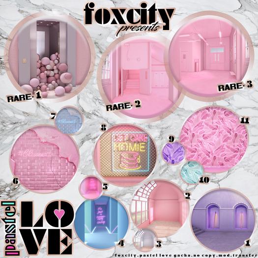 FOXCITY. Pastel Love Gacha - 9 - Banana Leaf (Violet) (Common)