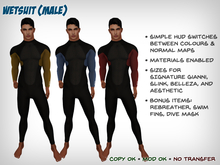 Wetsuit (Male) - Signature, Slink, Belleza, Aesthetic