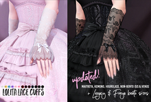 Lolita Lace Cuffs by Sweet Thing: LEGACY, Maitreya, Freya, Kemono, Hourglass! For your victorian, elegant, gothic dolls