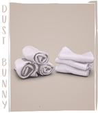 dust bunny . laundry room clutter . towels & blankets