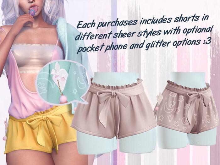 Lunar - Rumi Shorts w/ Phone - Nude (Boxed)