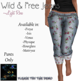CnK: Wild And Free Jeans: Light Rose  (Boxed)