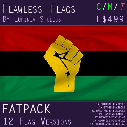 Black Power/Pan-African Flag (Fatpack, 24 Versions)