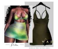 Vague. Pandora Dress Olive