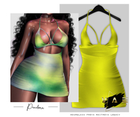 Vague. Pandora Dress Neon