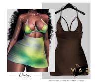 Vague. Pandora Dress Chocolate