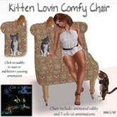CnK: Kitten Lovin Comfy Chair - (Annimated Kitten) Rust