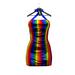 * Harmonia Pride Rainbow Anne Lycra Dress Maitreya Slink Freya