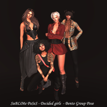 SuBLiMe PoSeS - Decided girls  - Bento Group Pose