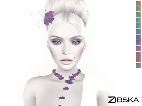 Zibska ~ Ava Color Change Necklace and Hair Adornment