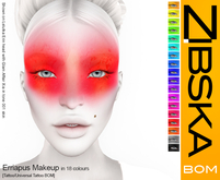 Zibska BOM Pack ~ Erriapus Makeup in 18 colors with tattoo and universal tattoo BOM layers