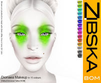 Zibska BOM Pack ~ Dionaea Makeup in 15 colors with tattoo and universal tattoo BOM layers