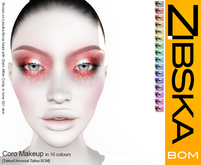 Zibska BOM Pack ~ Coro Makeup in 16 colors with tattoo and universal tattoo BOM layers