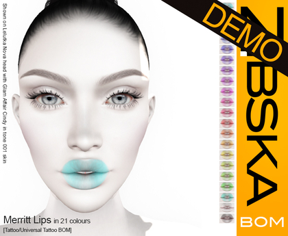 Zibska BOM Pack ~ Merritt Lips Demo [tattoo/universal tattoo BOM]