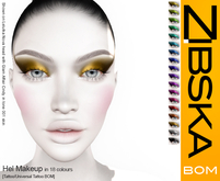 Zibska BOM Pack ~ Hel Eyemakeup in 18 colors with tattoo and universal tattoo BOM layers