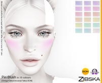 Zibska ~ Piri Blush in 18 colors with omega applier, tattoo and universal tattoo BOM layers
